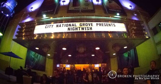 Nightwish at The City National Grove, Anaheim California USA
