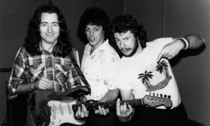 Ted McKenna with Rory Gallagher and Gerry McAvoy