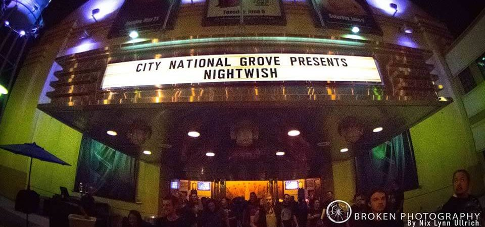 Nightwish at The City National Grove, Anaheim California USA