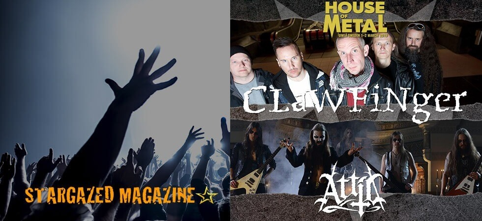 Clawfinger and Attic added to House of Metal lineup
