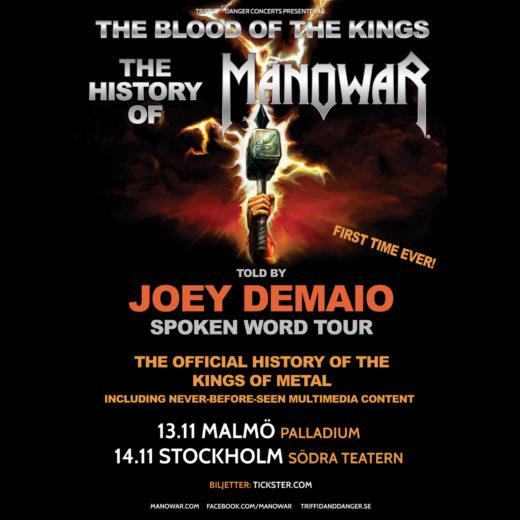 DeMaio Swedish tour poster