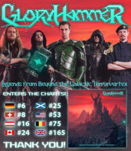 Gloryhammer hits the charts worldwide